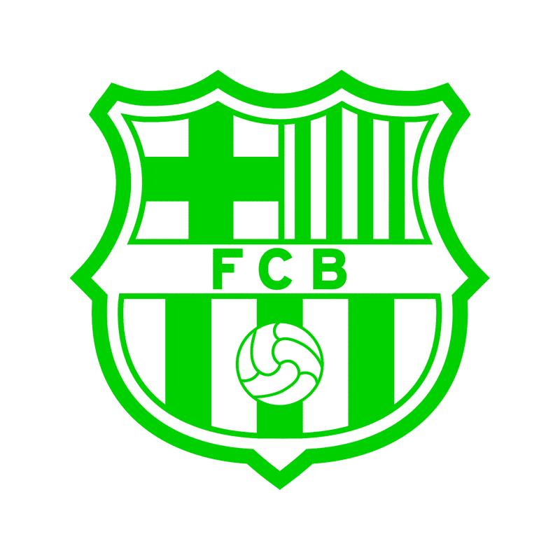 barcelona fc logo vinyl decal stickers stickershop nz barcelona fc logo vinyl decal stickers